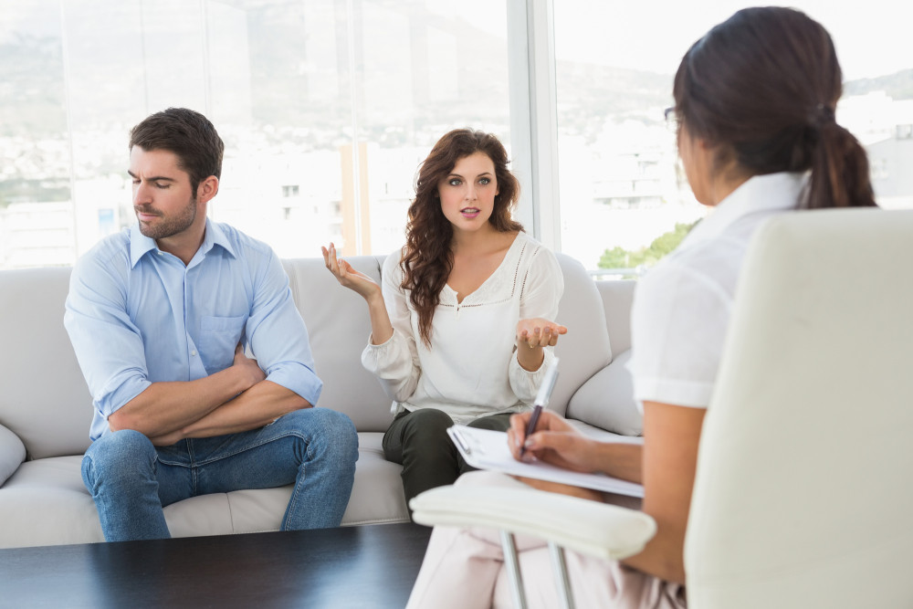 http://www.dreamstime.com/royalty-free-stock-image-couple-quarreling-front-their-therapist-office-image49311086